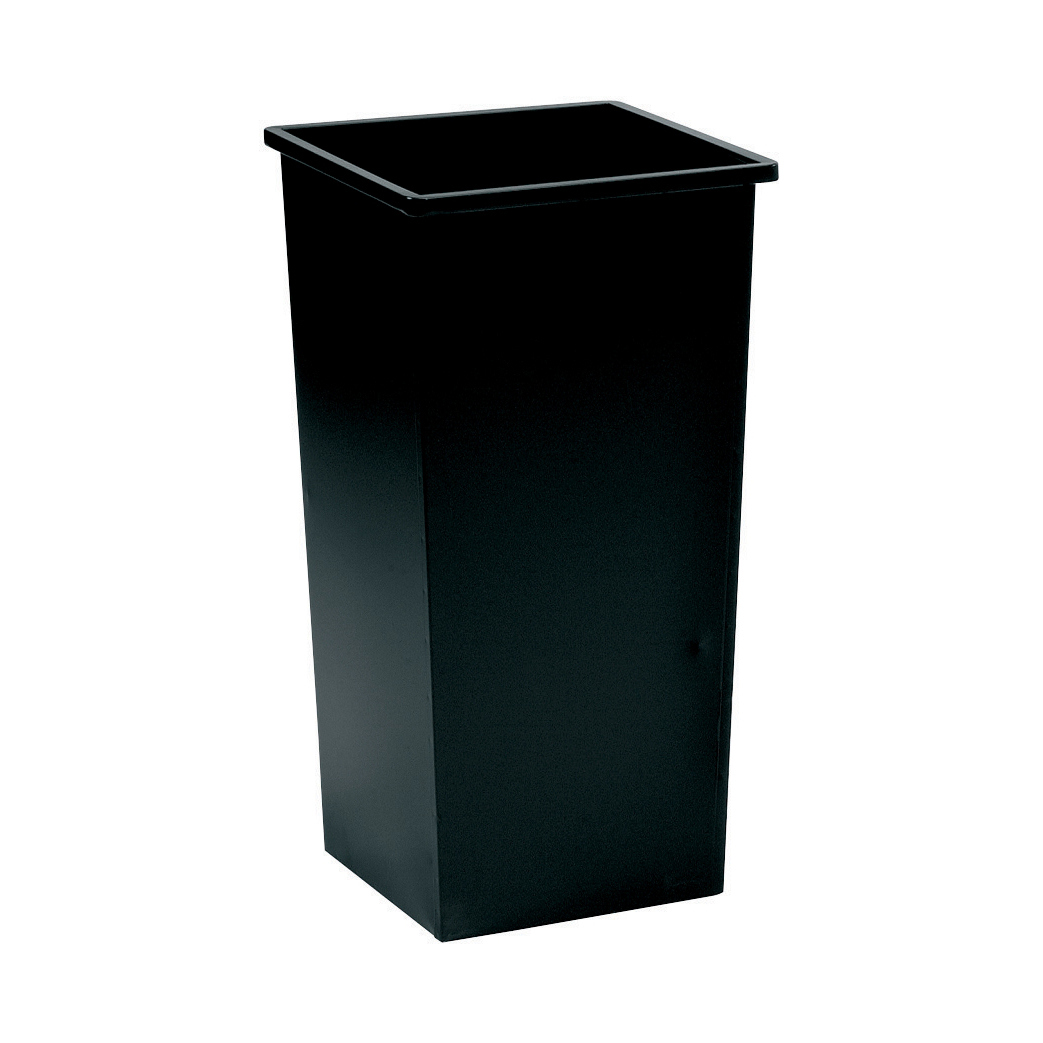 5 Star Facilities Waste Bin Square Metal Scratch-resistant W325xD325xH642mm 48 Litres Black