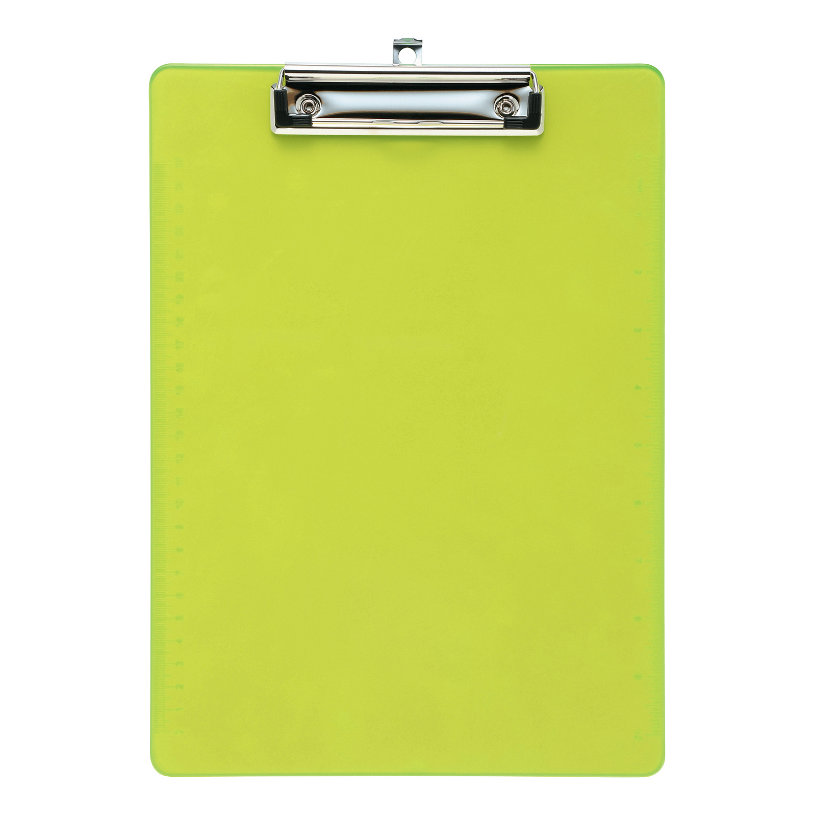 5 Star Office Clipboard Solid Plastic Durable with Rounded Corners A4 Lime Green