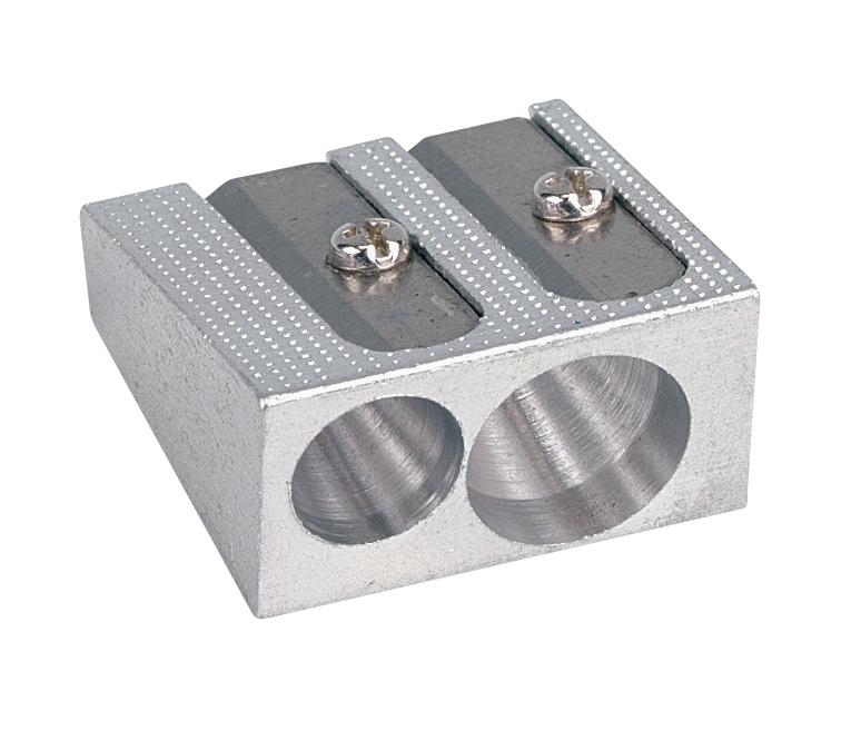 Image for 5 Star Office Pencil Sharpener Pocket-sized Metal for Max. Diameter 8mm Double Hole Pack 5