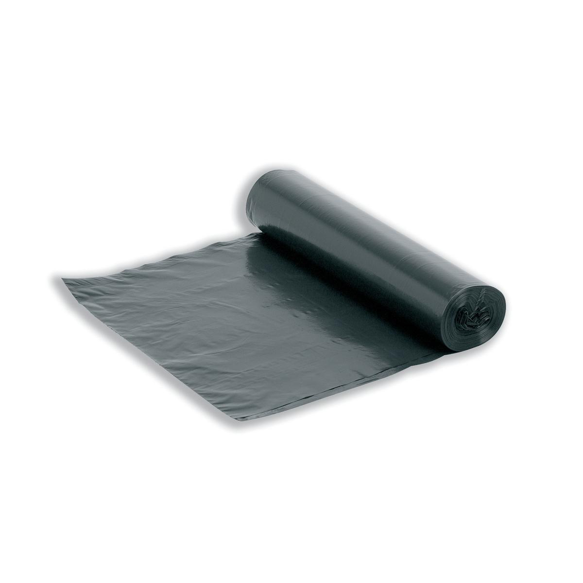 5 Star Facilities Bin Liners Medium/Heavy Duty Rolled 95 Litre Capacity W425/725xH840mm Black [Roll 20]