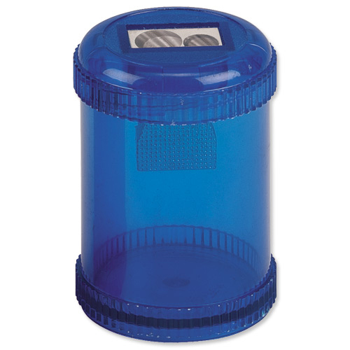 Image for 5 Star Pencil Sharpener Plastic Canister Maximum Pencil Diameter 8mm 2 Hole Coloured