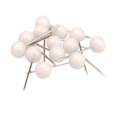 5 Star Office Map Pins 5mm Head White Pack 100