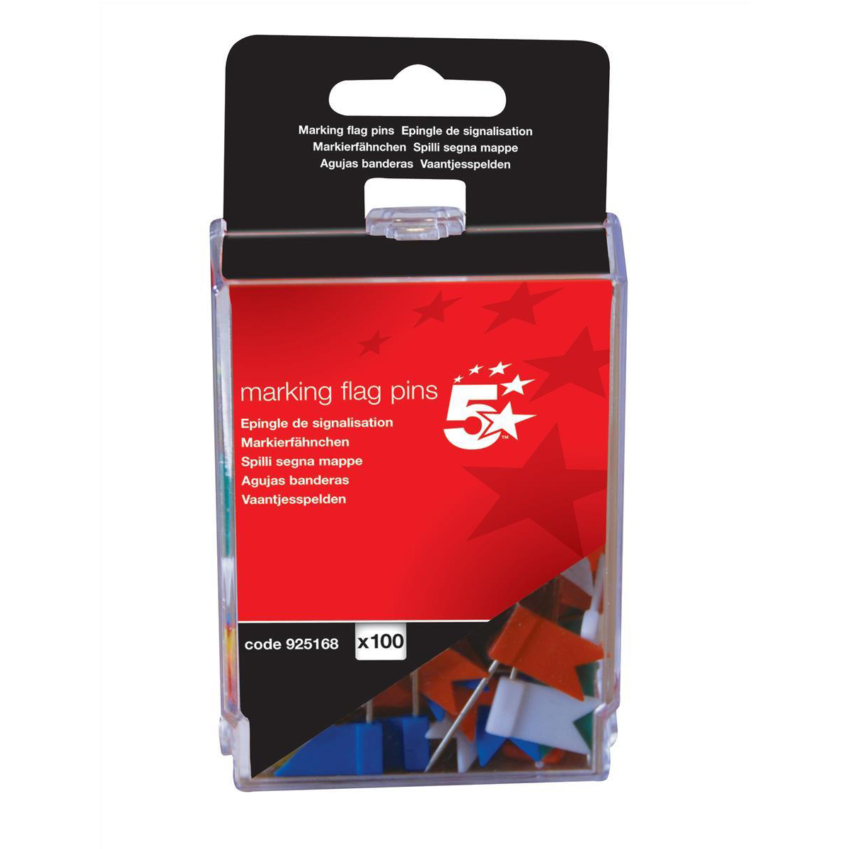 5 Star Office Marking Flags Assorted Pack 100