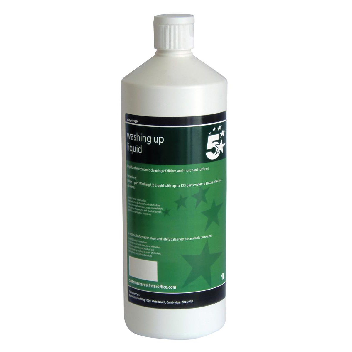 5 Star Facilities Washing-up Liquid Lemon 1 Litre
