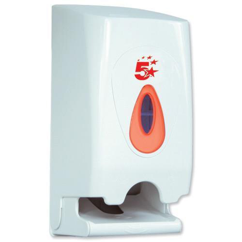 5 Star Facilities Twin Toilet Roll Dispenser W148xD150xH315mm White