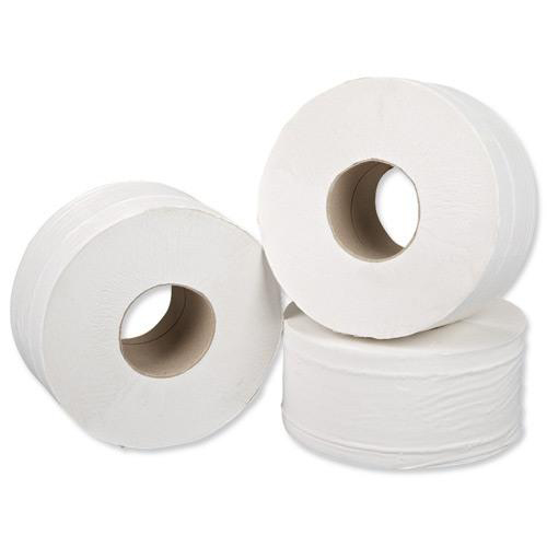 5 Star Facilities Jumbo Toilet Rolls Two-ply Sheet Size 250x92mm Roll Length 200m [Pack 12]
