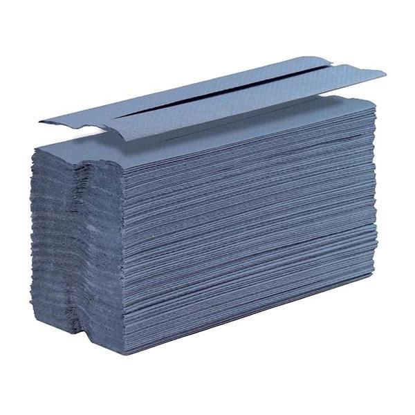 5 Star Facilities Hand Towel C-Fold One-ply Recycled Size 230x310mm 144 Towels Per Sleeve Blue [Pack 20]
