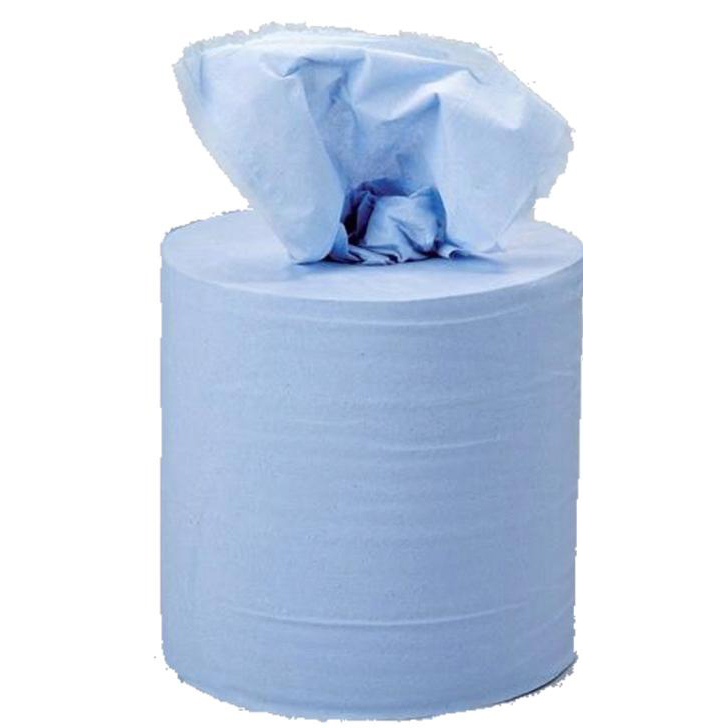 5 Star Facilities Centrefeed Tissue Refill for Jumbo Dispenser Blue Two-ply L150mxW180mm [Pack 6]