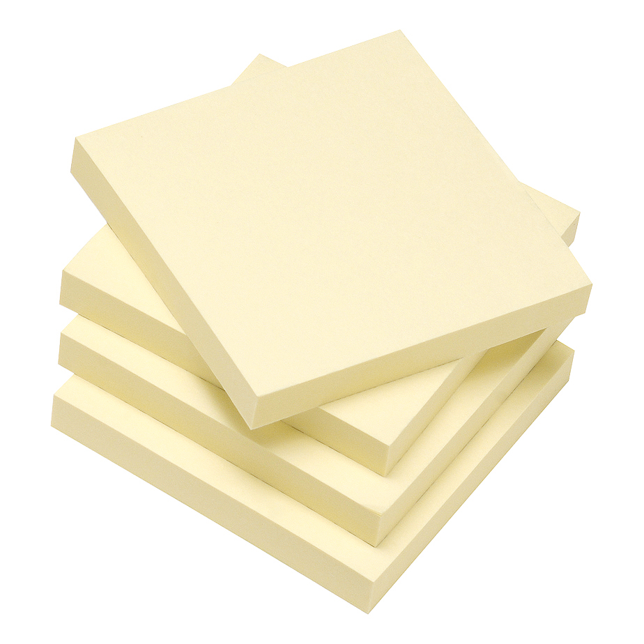 Image for 5 Star Eco Re-Move Recycled Notes Repositionable Pad of 100 Sheets 76x76mm Yellow [Pack 12]