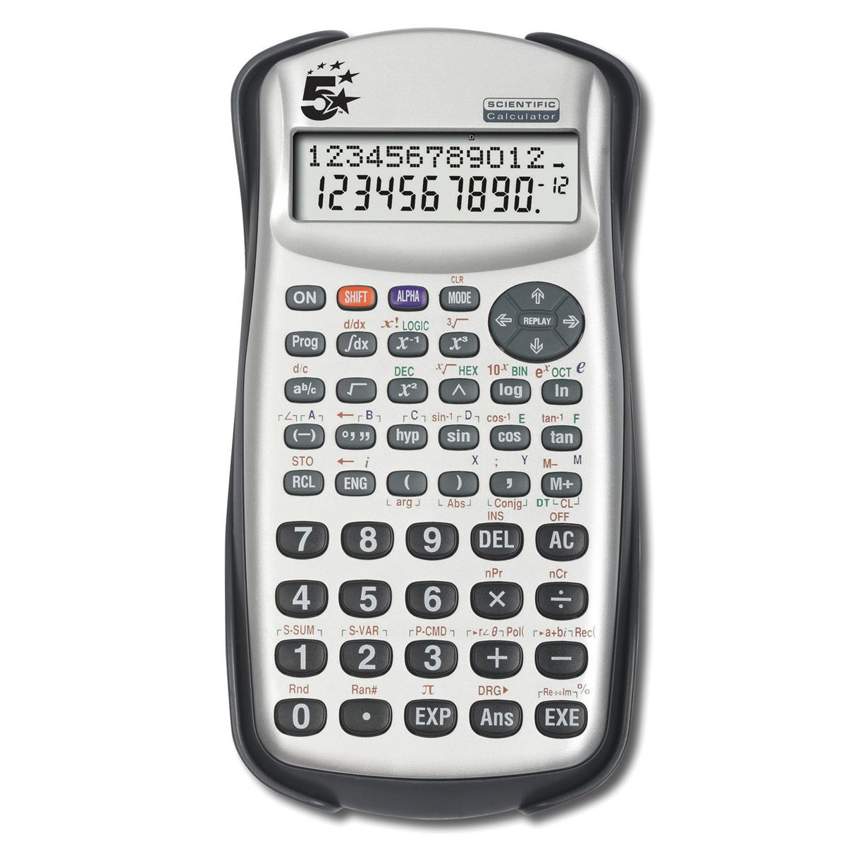 5 Star Office Scientific Calculator 2 Line Display 279 Functions 84.5x19x164.5mm Silver/Black