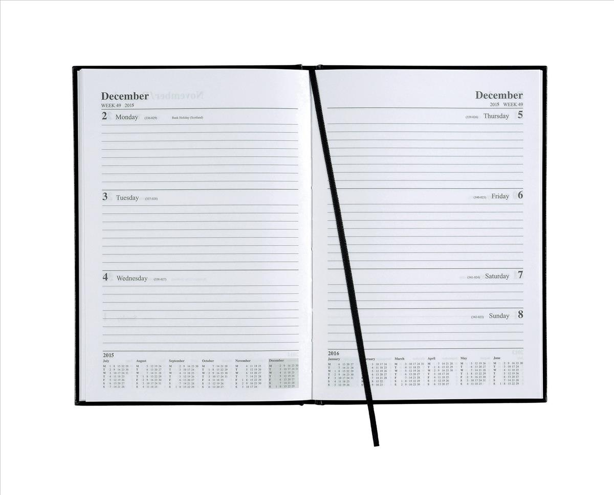 Image for 5 Star 2015/16 Acad Diary A4 WTV Blk