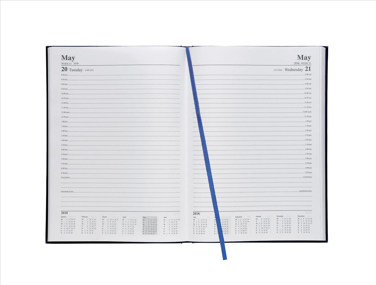 5 Star 2016 A4 Day/Pge Appoint Diary Blu
