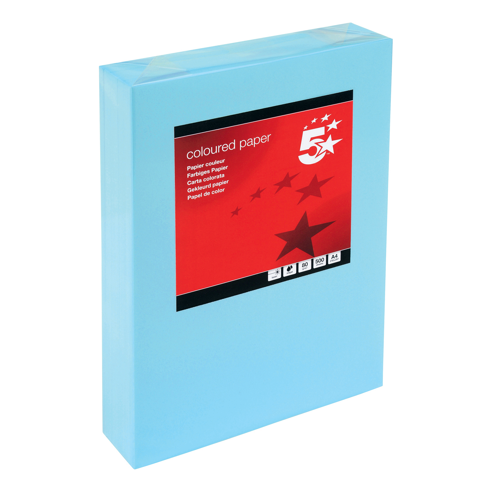 5 Star Copier Paper Multifunctional 80gsm 500 Sheets per Ream A4 Medium Blue