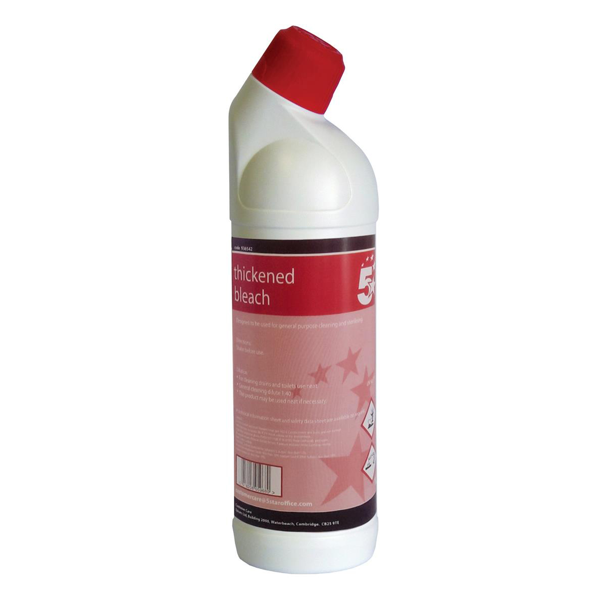 5 Star Facilities Thickened Bleach for General Purpose Cleaning and Sterilising 1 Litre
