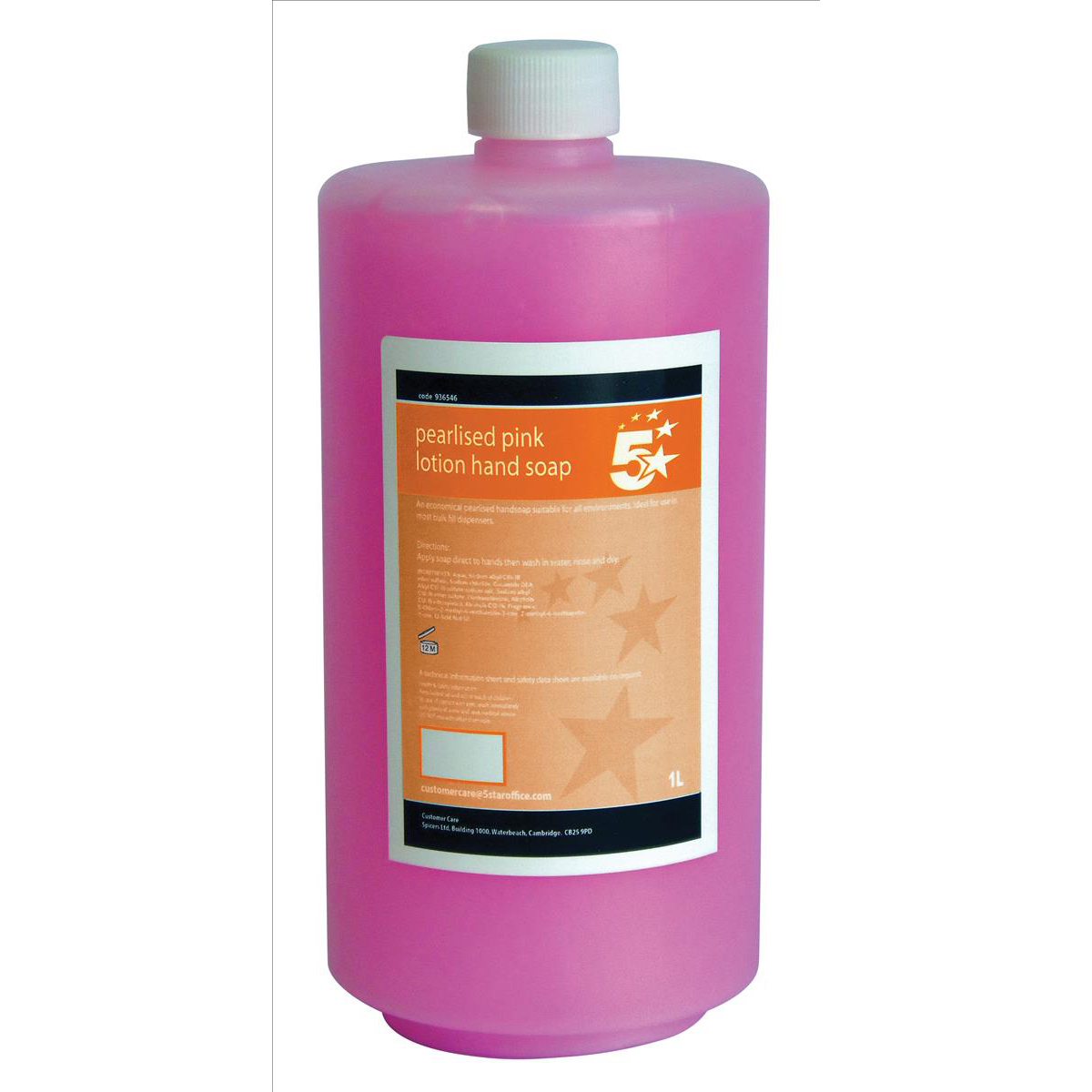5 Star Facilities Lotion Hand Soap Pearlised Pink 1 litre