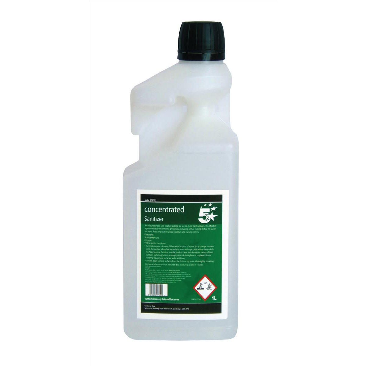 5 Star Facilities Concentrated Catering Sanitiser 1 Litre