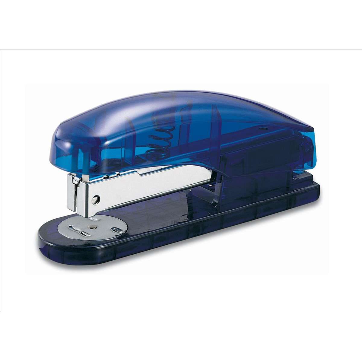 5 Star Office Half Strip Stapler 20 Sheets Blue Transparent
