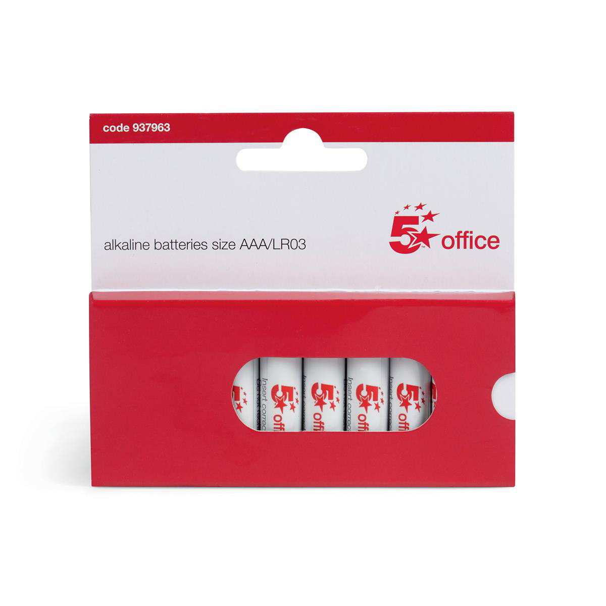 5 Star Office Batteries AAA [Pack 10]