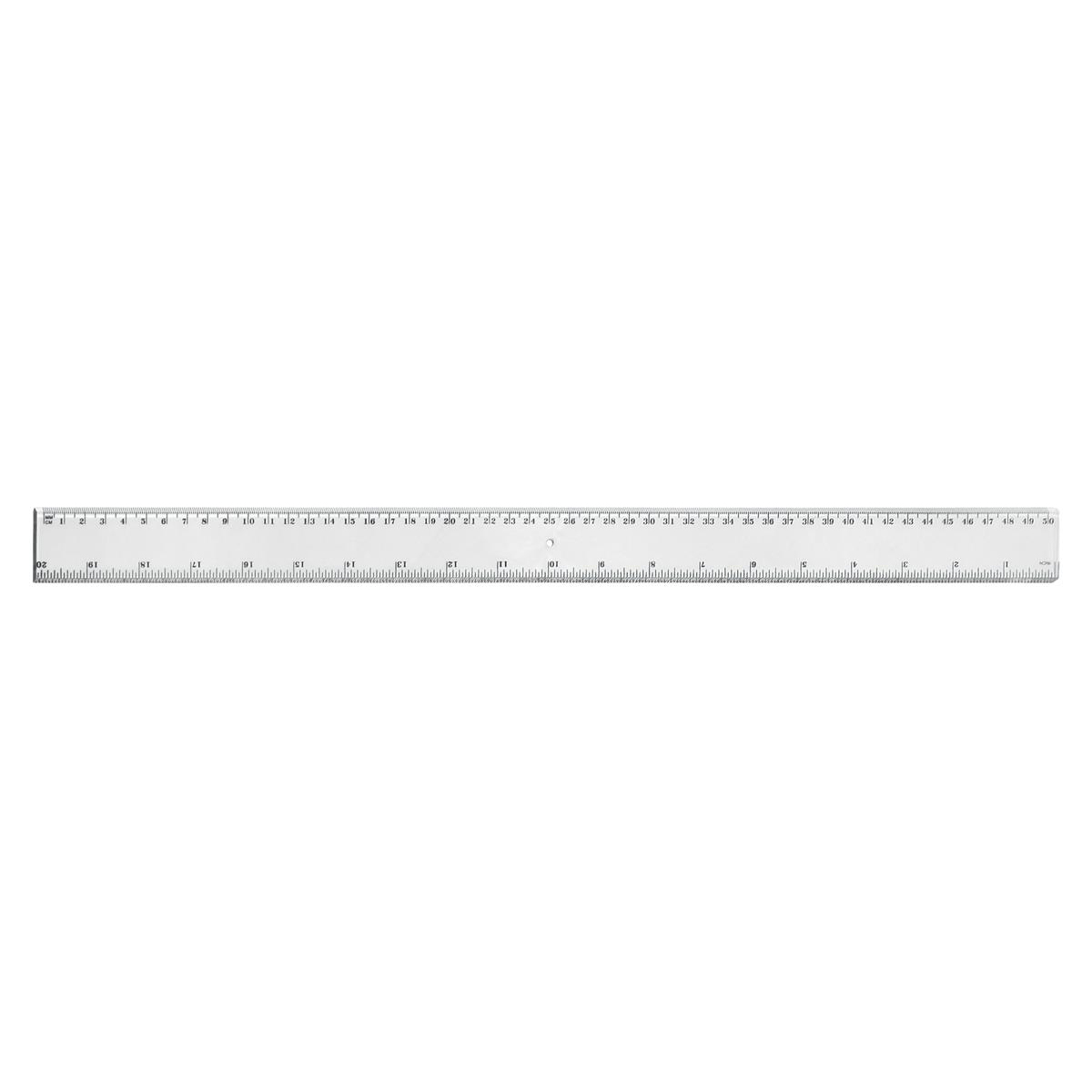 5 Star Office Ruler Plastic Metric and Imperial Markings 450mm Clear