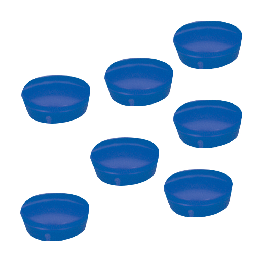 5 Star Office Round Plastic Covered Magnets 20mm Blue [Pack 10]