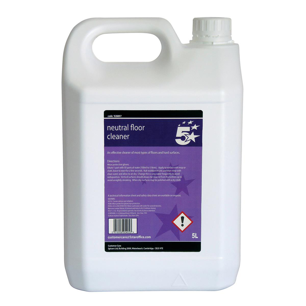 5 Star Facilities Neutral Floor Cleaner 5 Litres