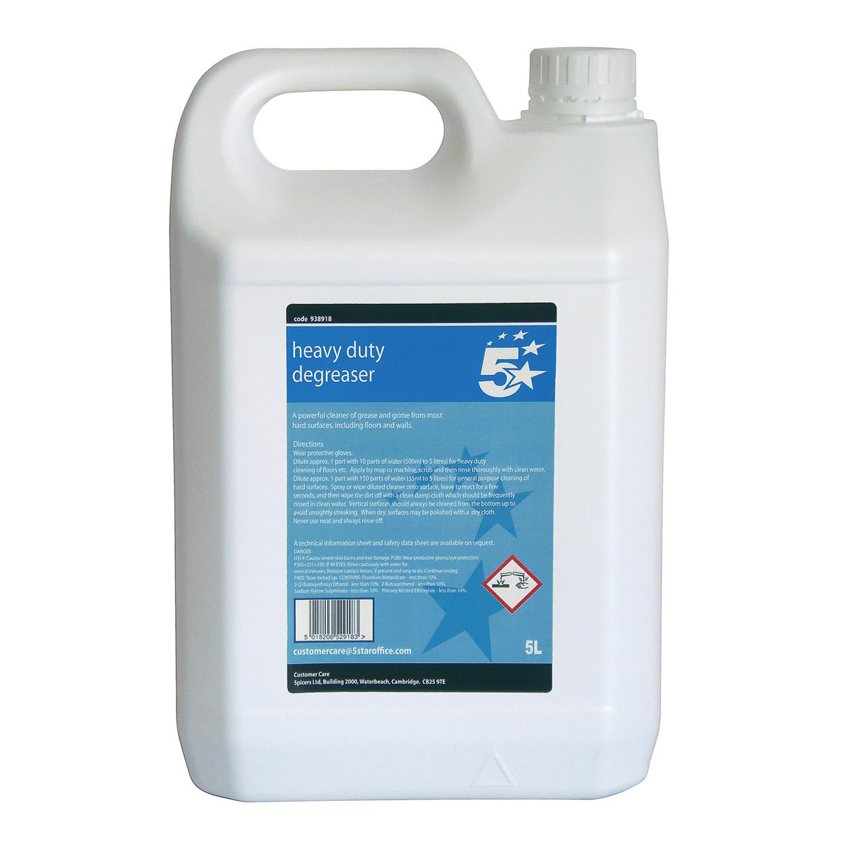 5 Star Facilities Heavy-duty Degreaser 5 Litres