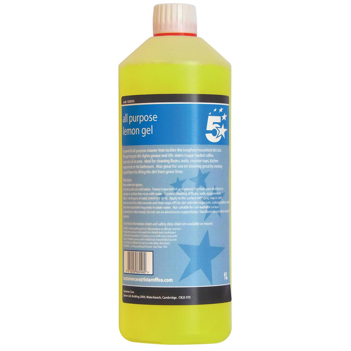 5 Star Facilities All Purpose Lemon Cleaning Gel 1 Litre