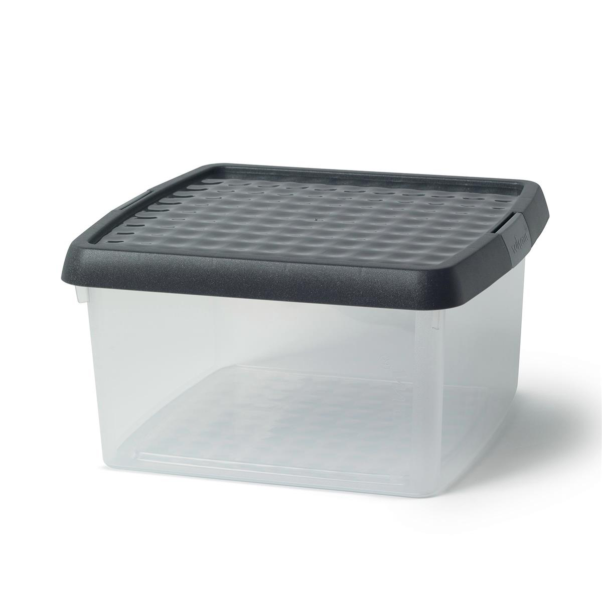 Image for 5 Star Elite Storage Clip Box Plastic Stackable with Lid 9 Litre Clear