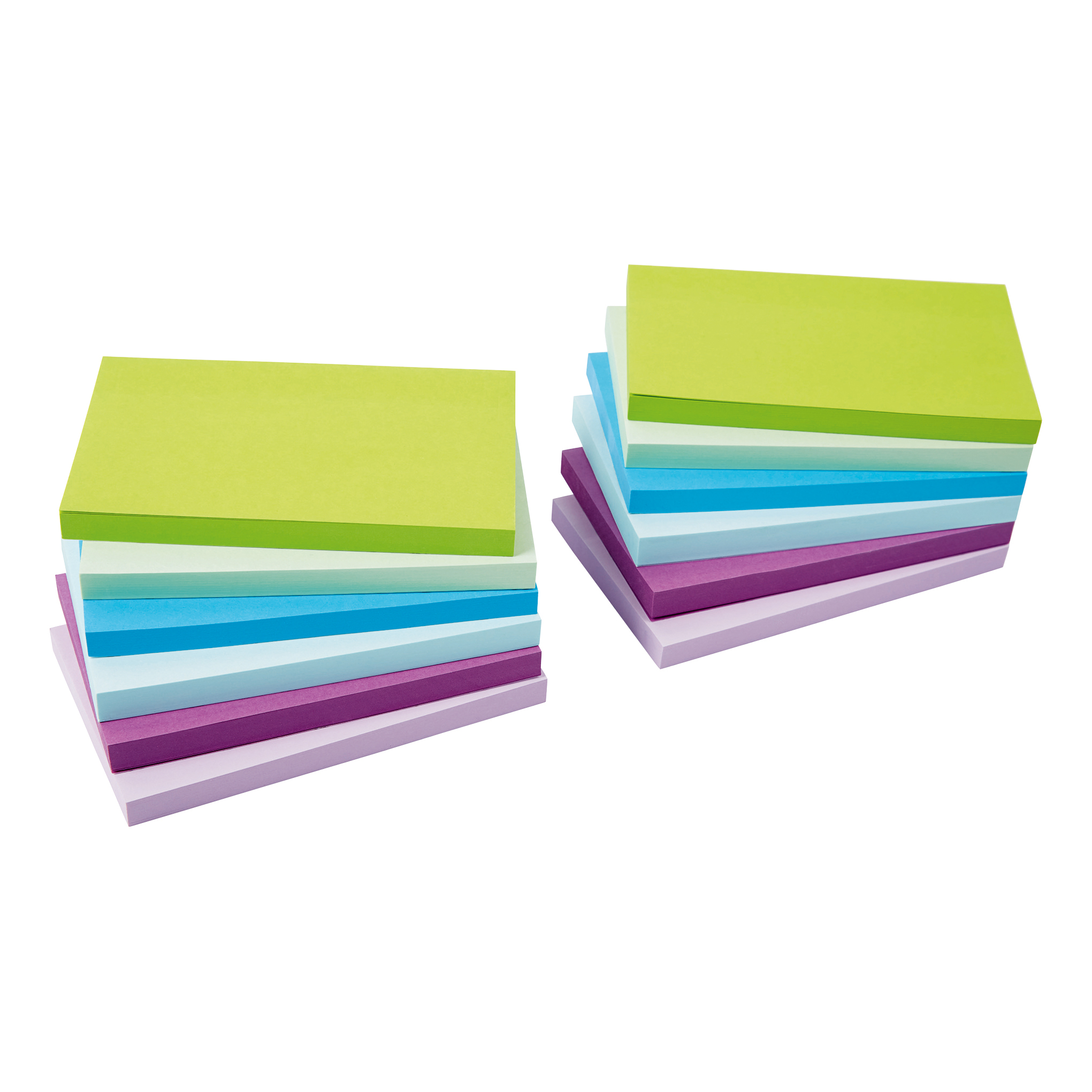 5 Star Office Re-Move Sticky Notes 76x127mm 6 Neon/Pastel Colours 100 Sheets per Pad [Pack of 12]