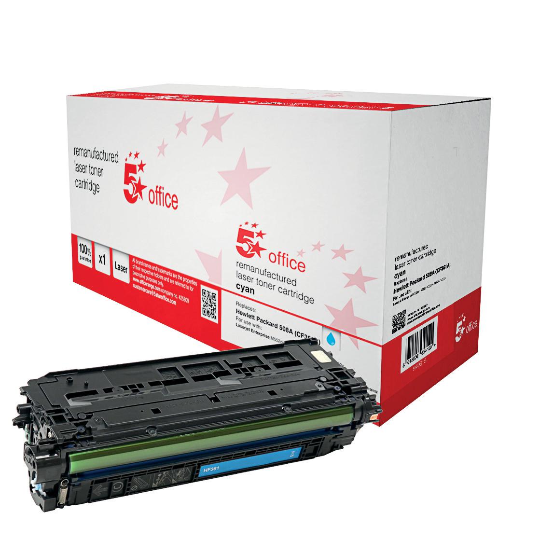 5 StarOfficeHP508A TonerCart Cyan CF361A