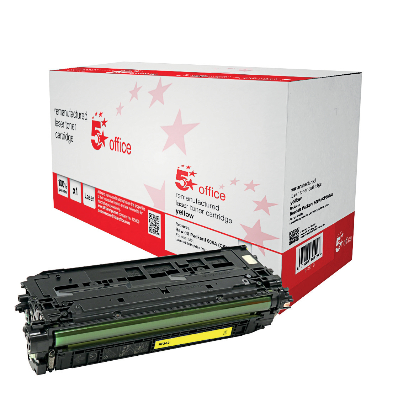 5 StarOfficeHP508A TonerCart Yell CF362A