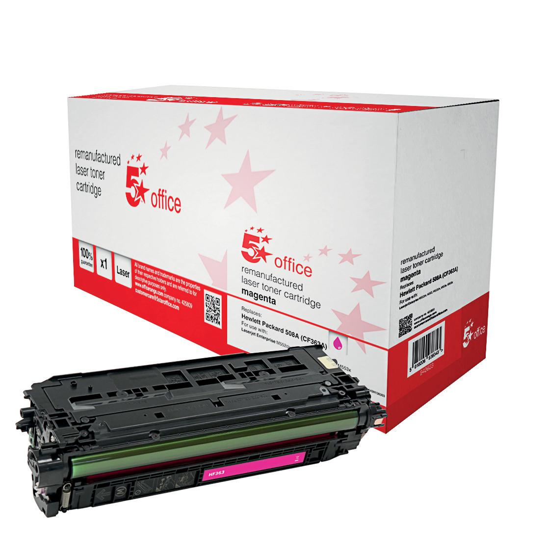 5 StarOfficeHP508A TonerCart Mag CF363A