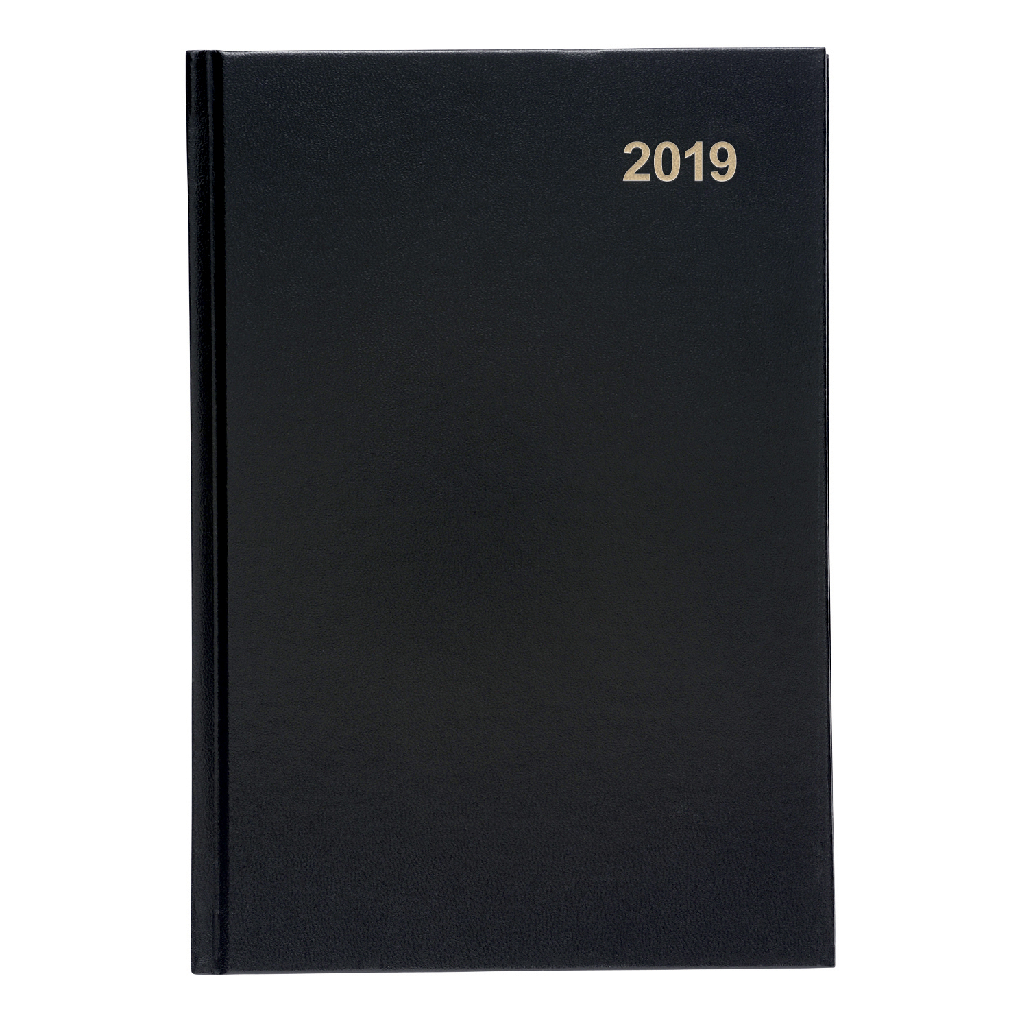 5 Star Office 2019 Diary Week to View Casebound and Sewn Vinyl Coated Board A5 210x148mm Black