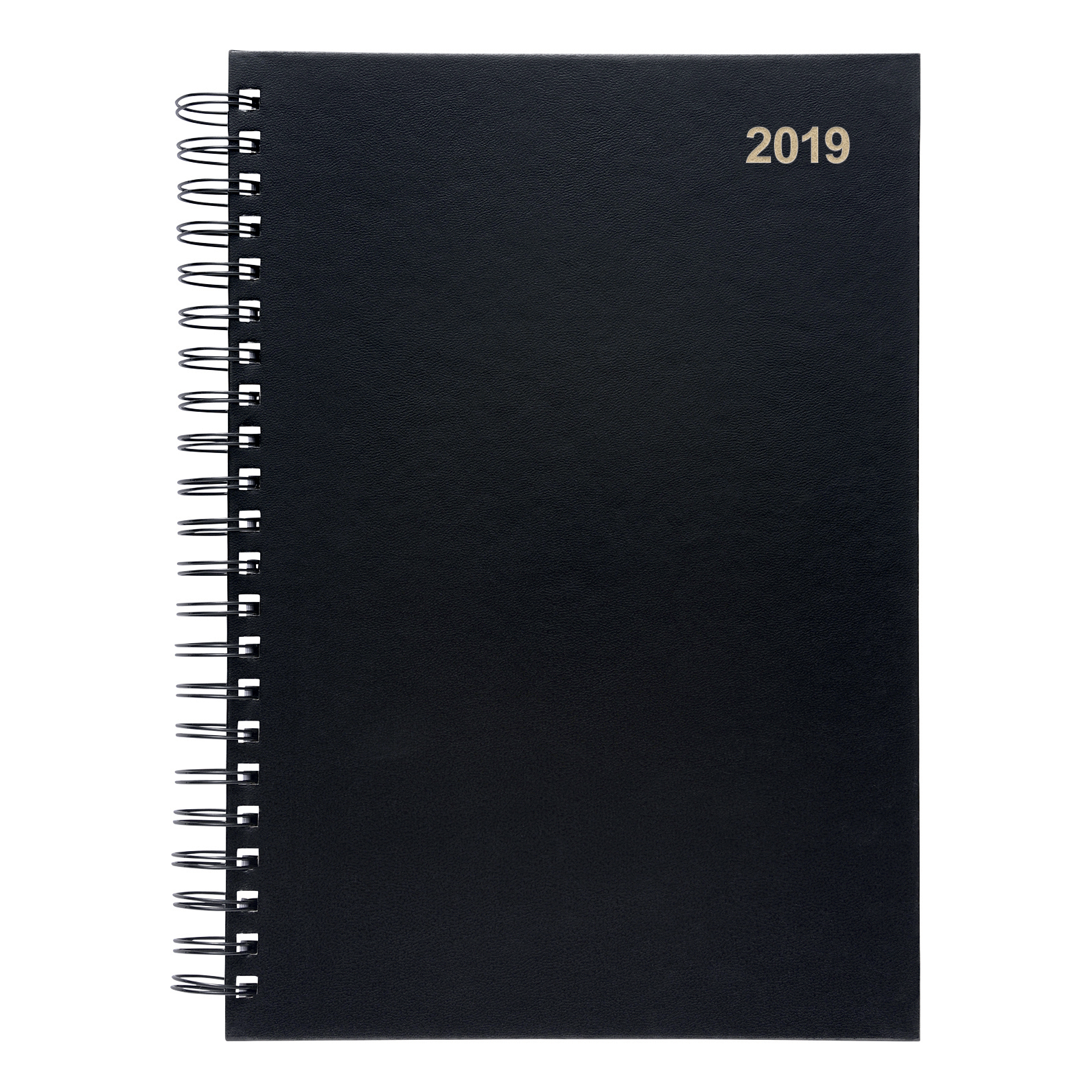 5 Star 2019 Wiro A4 Day/Page Diary Black