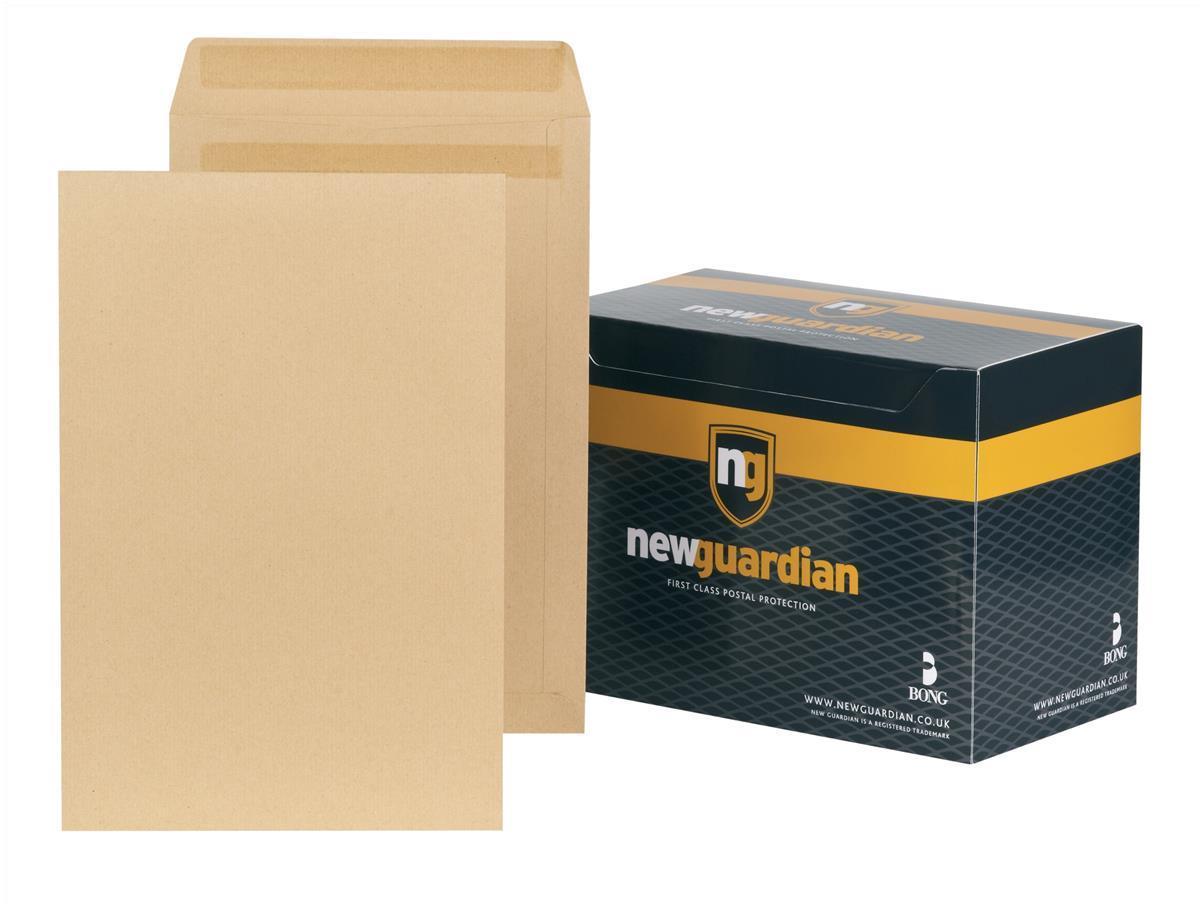 New Guardian Envelopes Heavyweight Pocket Press Seal Manilla 381x254mm [Pack 250]