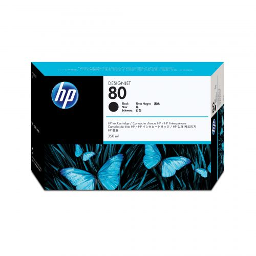 Hewlett Packard [HP] No.80 Inkjet Cartridge High Yield 4400pp 350ml Black Ref C4871A