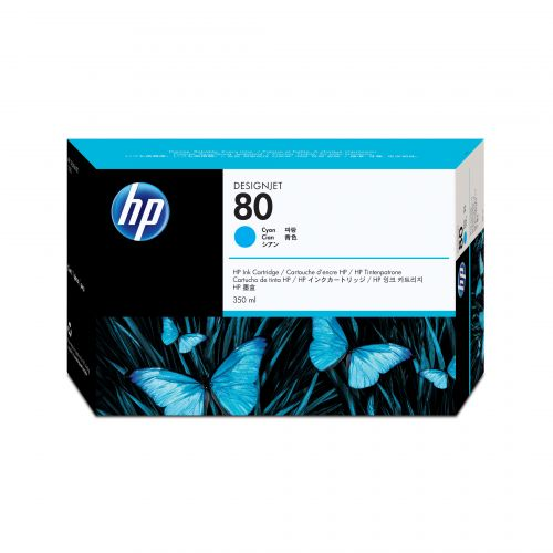 Hewlett Packard [HP] No. 80 Inkjet Cartridge 350ml Cyan Ref C4846AE
