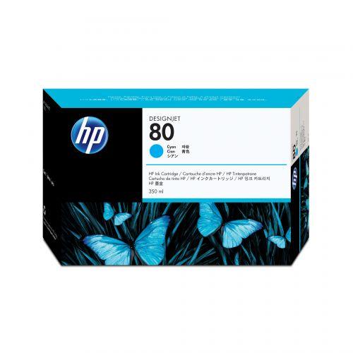 Hewlett Packard [HP] No. 80 Inkjet Cartridge 350ml Cyan Ref C4846AE