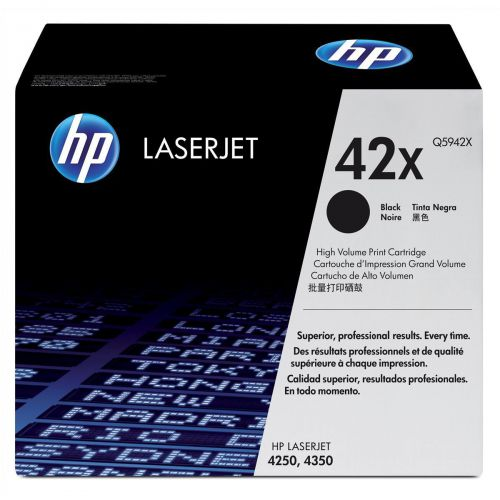 HP 42X Laser Toner Cartridge High Yield Page Life 20000pp Black Ref Q5942X