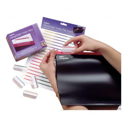 Snopake HangGlider Plastic Tabs for Suspension File Clear Ref 10278 [Pack 25]