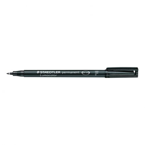Staedtler 318 Lumocolor Permanent Pen Fine 0.6mm Line Black Ref 318-9 [Pack 10]