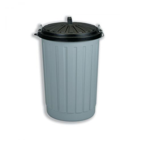 Dustbin Round with Lid plus Locking Clips 90 Litres