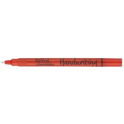 Berol Handwriting Clip Pen Black Pack of 12 3P