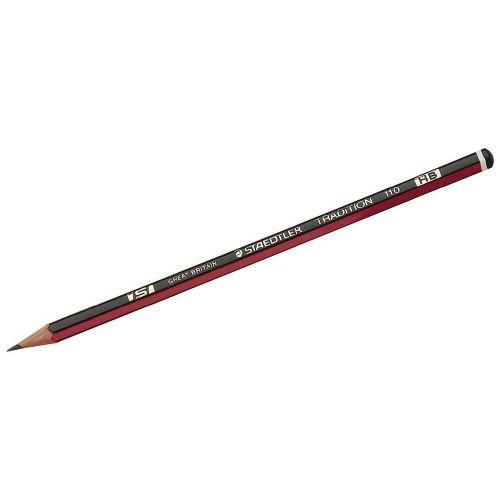 Staedtler 110 Tradition Pencil Cedar Wood HB Ref 110-HB [Pack 144] [Bulk Pack] Jan-Dec 2018