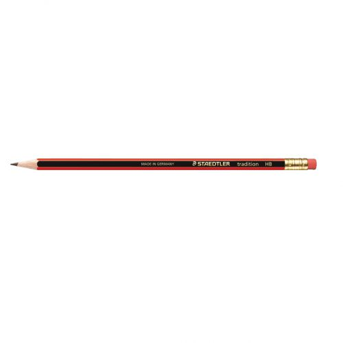 Staedtler 110 Tradition Pencil Cedar Wood with Eraser HB Ref 112HBRT [Pack 144] [Bulk Pack] Jan-Dec 2018