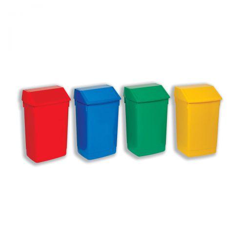 Flip Top Bin Composite Plastic 60 Litres Red