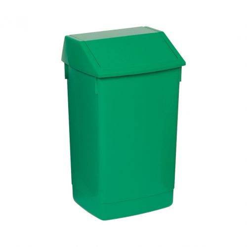 Flip Top Bin Composite Plastic 60 Litres Green