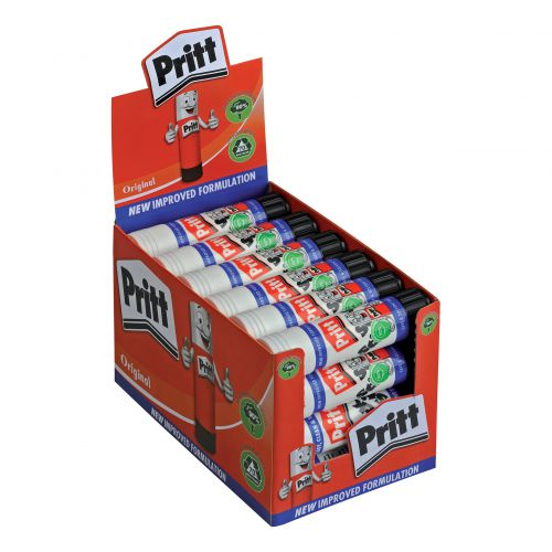 Pritt Stick Glue Solid Washable Non-toxic Large 43gm Ref 1564148 [Pack 24]