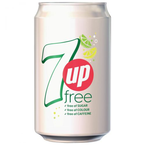 7UP Free Lemon and Lime Soft Drink Can 330ml Ref 203389 [Pack 24]