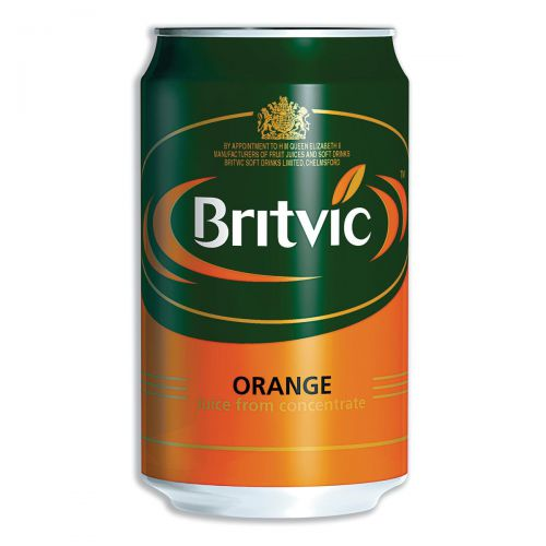 Britvic Orange Juice From Concentrate Can 330ml Ref 202965 [Pack 24]